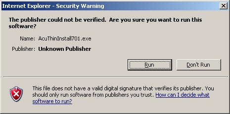 Publisher Not Verified Dialog